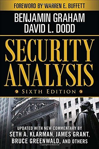 Security Analysis: Sixth Edition, Foreword by Warren Buffett (Security Analysis Prior Editions) by Benjamin Graham http://www.amazon.com/dp/0071592539/ref=cm_sw_r_pi_dp_vOa8tb1W6QD07