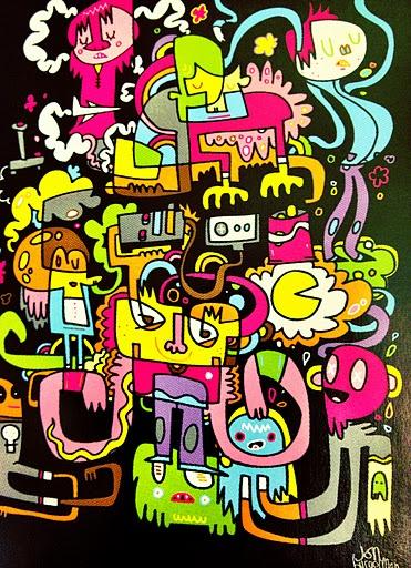 JON BURGERMAN http://www.widewalls.ch/artist/jon-burgerman/ #contemporary #art