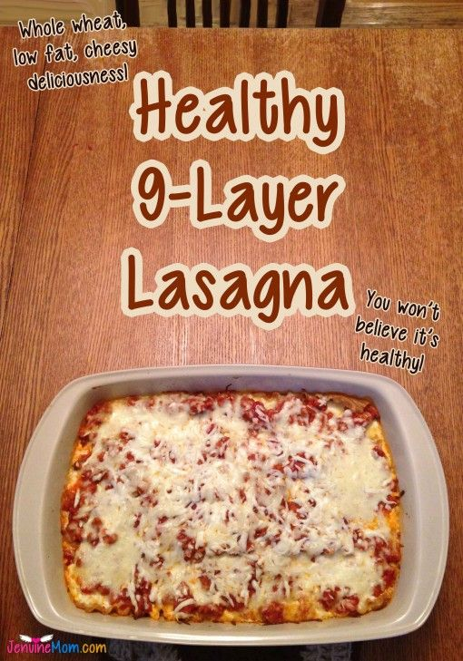 Healthy 9-Layer Lasagna Recipe … 100% simply filling and very good!