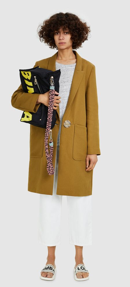 Abrigo largo oliva-181BR0201.T1540