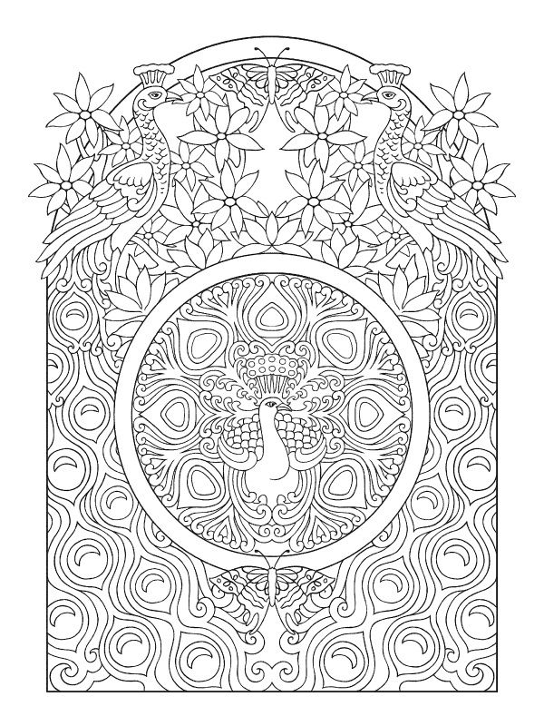 Art Nouveau Animal Designs Coloring Book Mlarboksidor