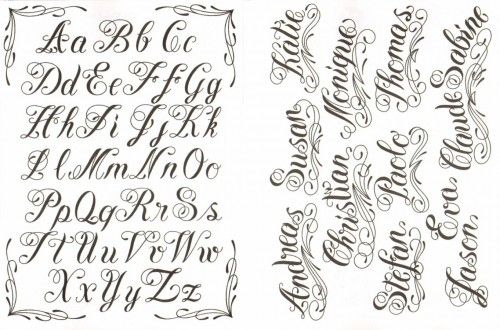 Cursive Script Tattoospace Social Networking For