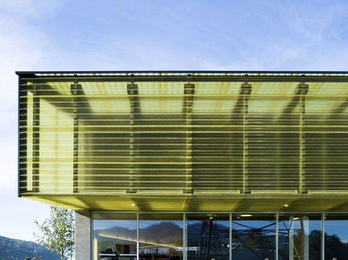 Panel de policarbonato ondulado / acanalado / para muro-cortina / translúcido CHAPA ONDULADA TRANSL Polimer Tecnic