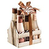 Tropical Milky Coconut bath and body spa gift set- shower gel, bubble bath, bath salts, body butter, body scrub, body lotion, - Tropical Milky Coconut bath and body spa gift set- shower gel, bubble bath, bath salts, body butter, body scrub, body lotion,   The Tropical Coconut bath and body spa set comes in a modern looking natural wood liquor caddy. This item is a unique gift that can be used in a conference room, kitchen and contemporary bathroom. Contains: 200ml shower gel.