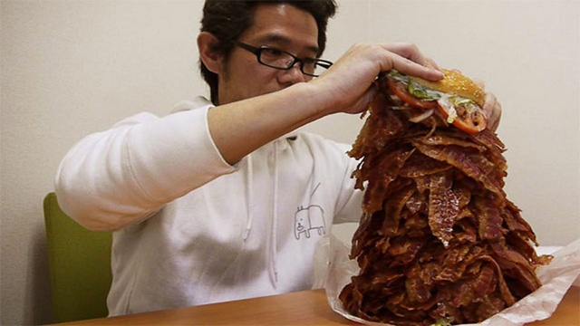 if you order 1,050 slices of bacon, burger king will comply..Heart, Alarm Clocks, Bones, Bacon Strips, Dinner Time, Blog, Awesome Things, Burgers King, 1050 Bacon