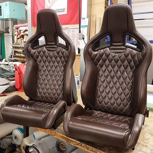 TheHogRing.com Page Liked · November 13 ·   I'm loving the look of these bucket seats trimmed in brown leather by @revracing #handmade #thehogring #upholstery #autoupholstery #sewing #stitching #leather #leatherwork #carinterior #autotrim