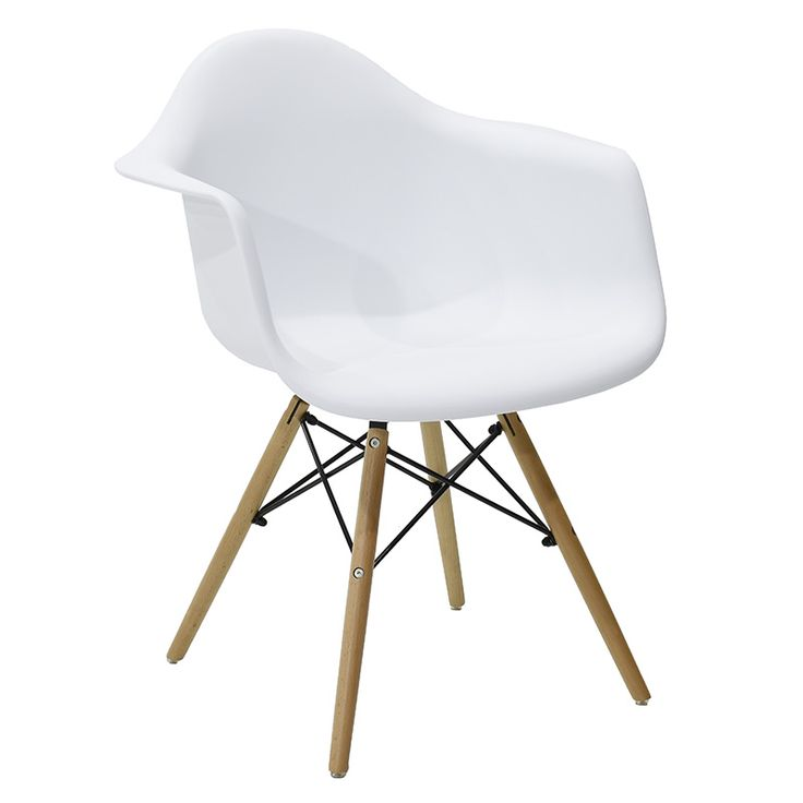 Propylene armchair Julita white