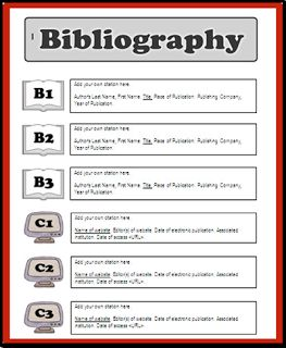 bibliography for essay format