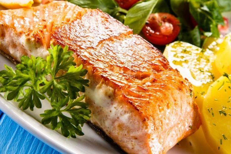 Filet de saumon...sauce à la cassonade et à l'ananas