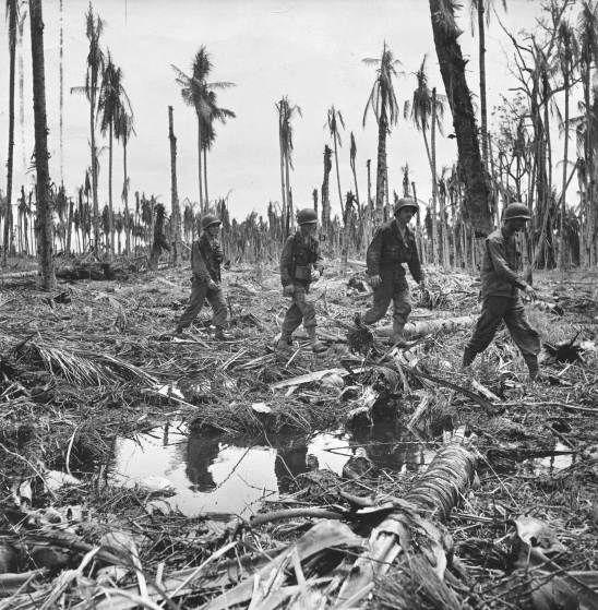 The Wasteland. American troops, Buna, New Guinea Campaign, World War II.