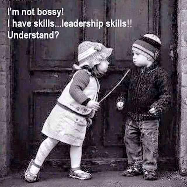 I'm Not Bossy! I have leadership skills! I can think of a few people this can refer to! me!!! lol