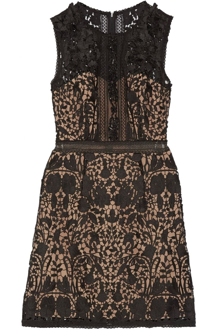 Embellished guipure lace mini dress | MARCHESA NOTTE | Sale up to 70% off | THE OUTNET