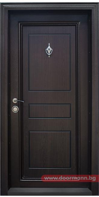 Блиндирана входна врата - Код T505, Цвят Тъмен орех