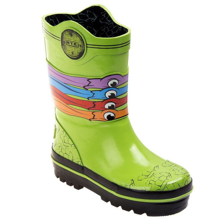 Nickelodeon Ninja Turtles Boys' Rain Boots