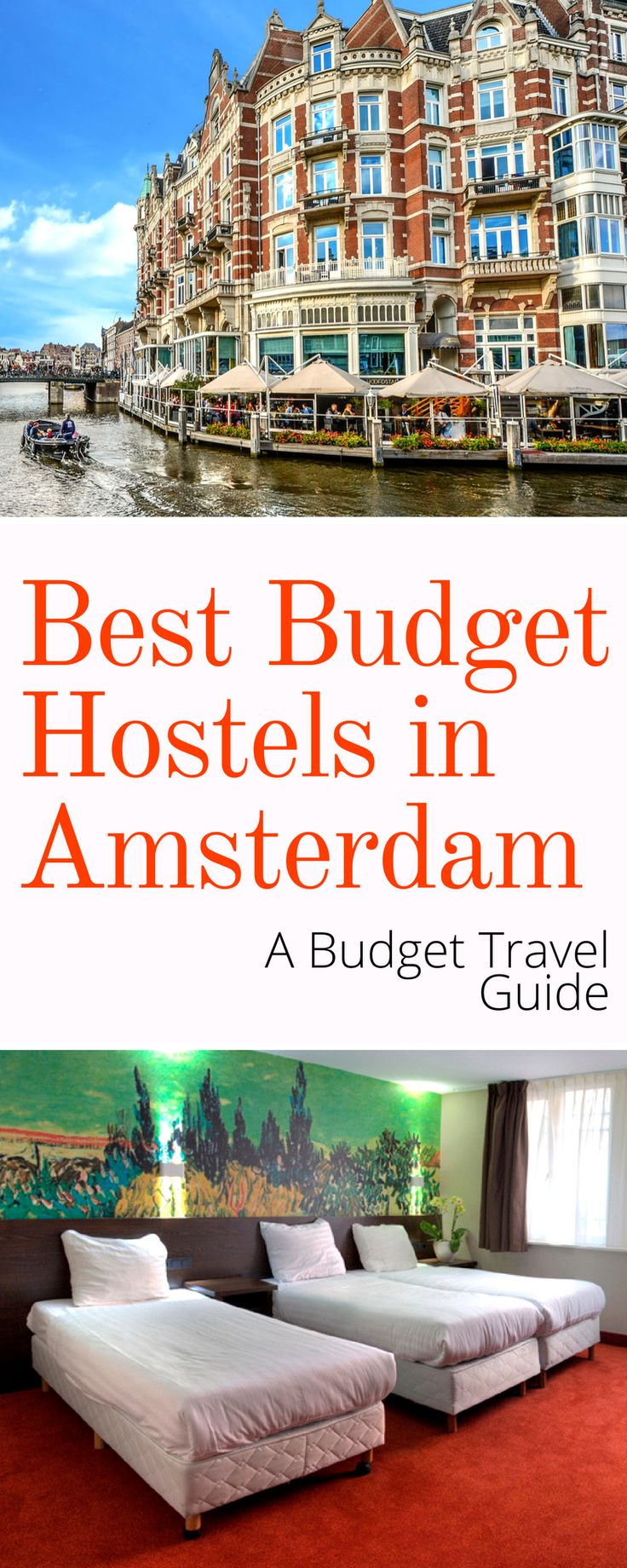 Budget Travel Guide: The Best Budget Hostels in Amsterdam Netherlands. Amsterdam isn't exactly budget friendly but with our guide to the best hostels you'll be able to spend your precious travel dollars/euros/etc where it counts!