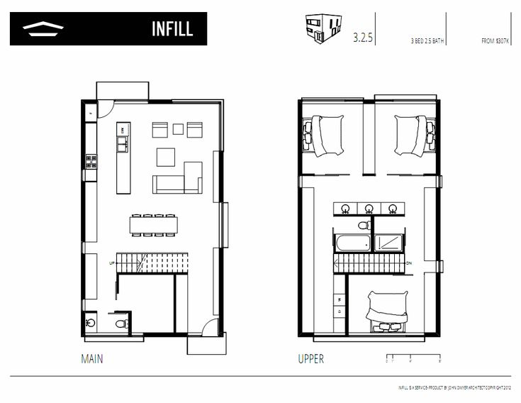 Infill john dwyer architect for Small condo floor plans