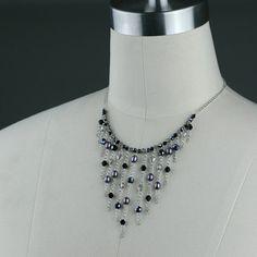 Araña negra aro grande perla pendientes de damas por AnniDesignsllc