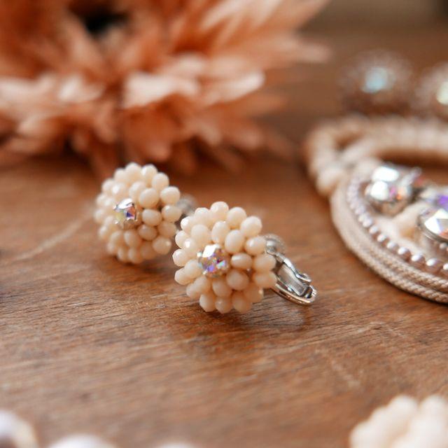 Rose Soleil Jewelry Antique Autumn Collection | ローズソレイユジュエリー ✧ グラスクリスタルイアリング ✧ アンティークオータムコレクション