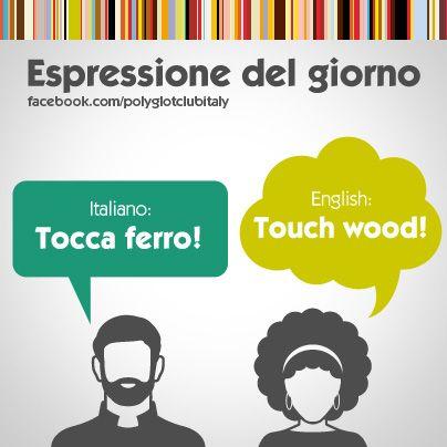 Italian / English idiom: touch wood!