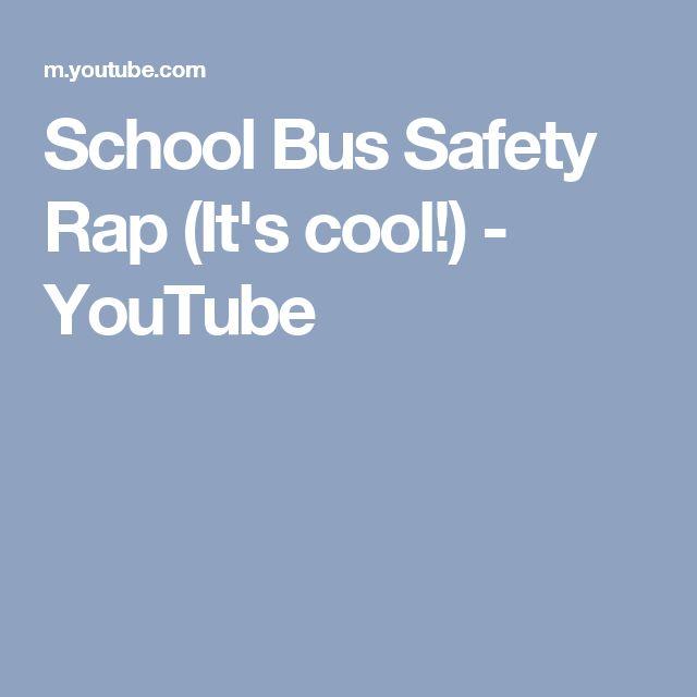 School Bus Safety Rap (It's cool!) - YouTube