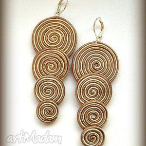 Soutache - simple swirls earrings