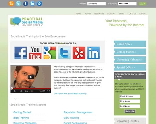 Practical Social Media Website + Brand Visuals
