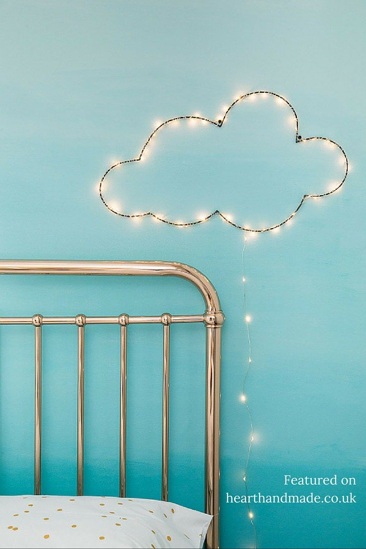 Light up wire cloud wall art - 24 Amazing Cloud Themed Gift Ideas You Will Love. Who doesn't love cloud shaped novelty items? Some of these home decor accessories are lovely!