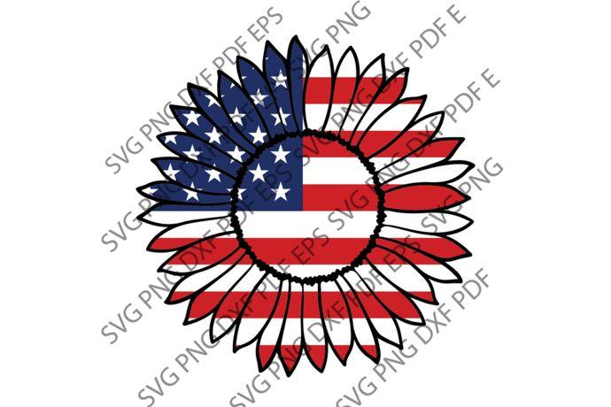 Download Sunflower American flag svg,independence day svg ...