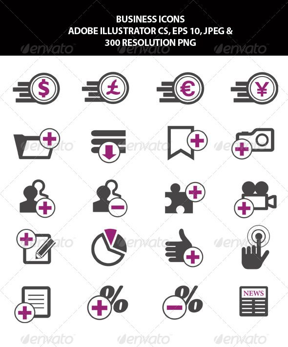 Business Icons  #GraphicRiver         Business Icons fully editable in Adobe Illustrator 10 & CS   The two main files are editable in Adobe Illustrator 10 & CS first is EPS file and the other is AI file edit with Adobe Illustrator 10 & CS.   Files included Adobe Illustrator Cs, PNG, EPS 10 & Jpeg.     Created: 19November13 GraphicsFilesIncluded: TransparentPNG #JPGImage #VectorEPS #AIIllustrator HighResolution: Yes Layered: Yes MinimumAdobeCSVersion: CS Tags: BankingIcons #BusinessDiagrams…