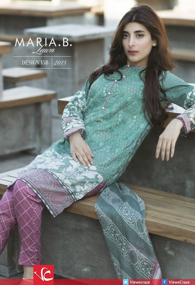 a1572fcf9a Maria B Lawn Collection 2015 (Complete Catalogue) | Summer 2015 in 2019 |  Dresses, Beautiful dress designs, Maria b lawn