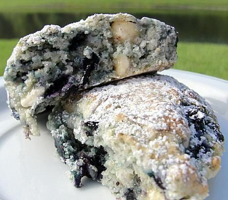 We had the most delicious blueberry and white chocolate scones for breakfast in Athens, TX at the Meadowlark Fields Country House bed and breakfast.  Don't know if this recipe will be as good but I will be giving it a try.
