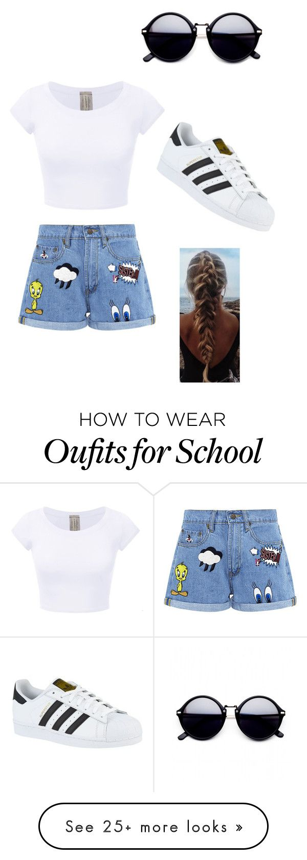 """""""Summer and or back to school"""" by ibelieve-1 on Polyvore featuring Paul & Joe Sister and adidas"""