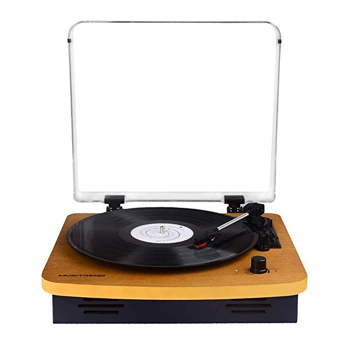 Record Player Turntable 3-Speed Record Player with Speaker Vintage Style Vinyl Record Player MP3 Recording