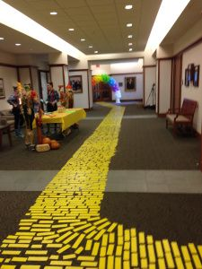 The Wizard of Oz Yellow Brick Road teacher ideas craft ideas yellow duct tape