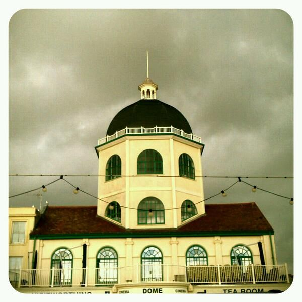 Worthing's Dome cinema at Halloween - photo by Ivy Arch