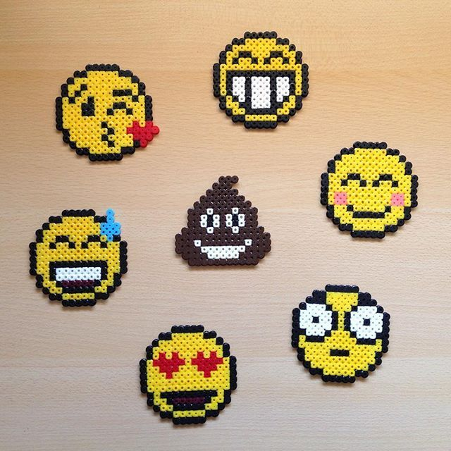 Emoticons hama beads by  hamarol_