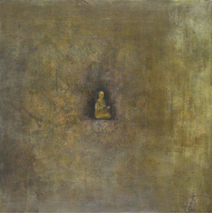 Robert Emerson. 'Buddha and Bird', Acrylic on canvas.