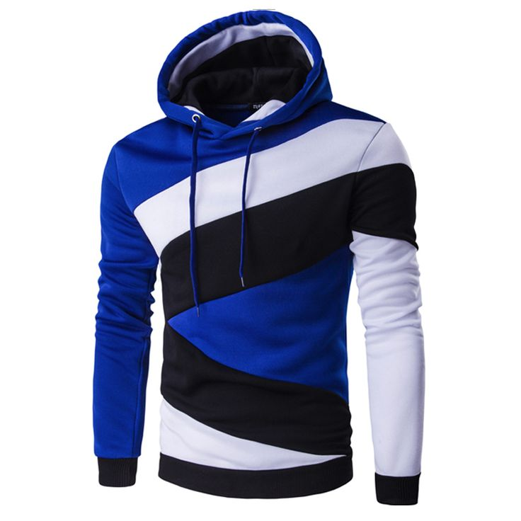 Mens Casual False Two Pieces Slim Fit Sport Hoodies Long Sleeve Sting Hooded Sw y7IejIi0vq
