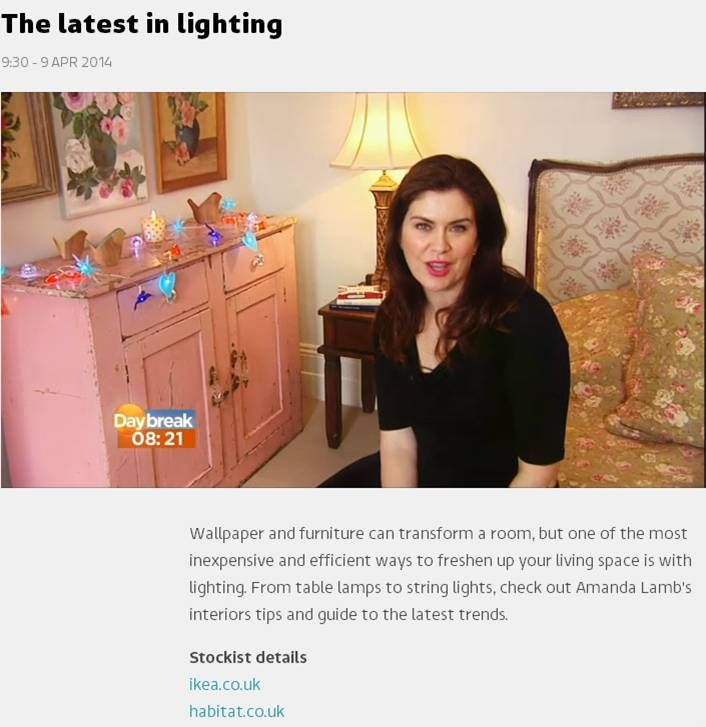 The latest in lighting, Amanda Lamb talks about our garland lights on DayBreak