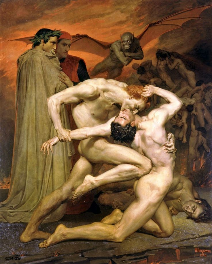 Dante and Virgil in Hell - William Adolphe Bouguereau
