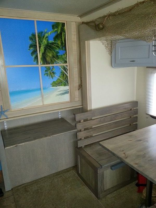 A Beach RV Interior Remodel for The Beach Bum in All of Us - http://www.doityourselfrv.com/beach-rv-interior-remodel/