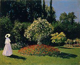 Claude Monet, Signora in giardino a Sainte-Adresse, 1867, olio su tela, Museo dell'Ermitage, San Pietroburgo