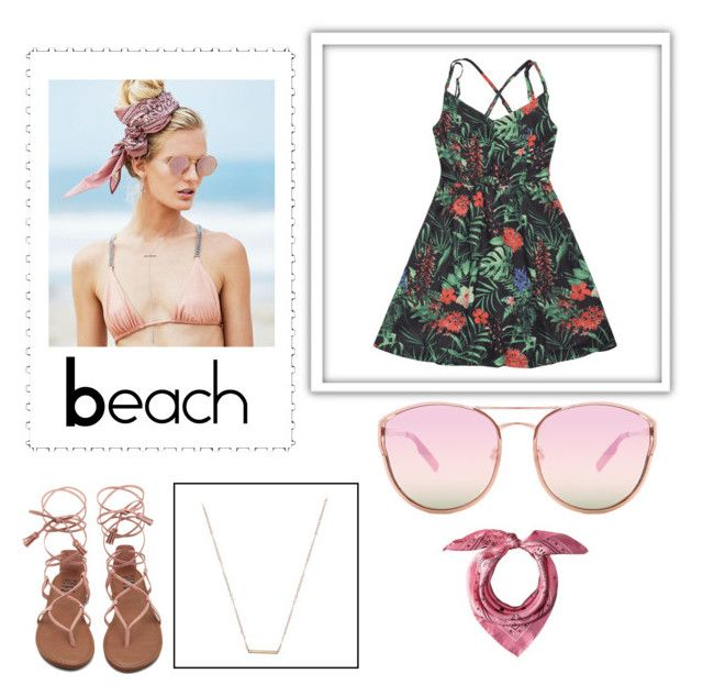 """""""beach"""" by allfuckit ❤ liked on Polyvore featuring Beach Riot, Quay, ERTH and MCM"""