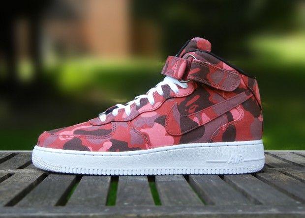Nike Air Force 1 Bape Camo Custom