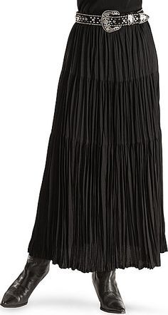 I have several of these hippie, er, broomstick skirts, in black, purple, etc. Cute and comfortable for date night, and great for Contra Dancing.