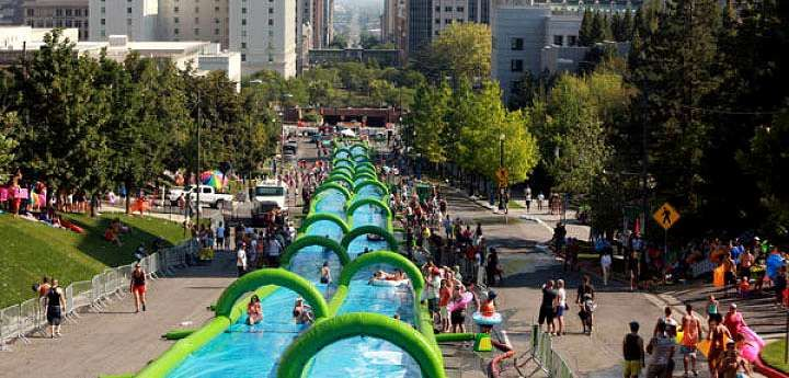 """It's Official, Montreal WILL Be Transformed Into A 1,000 Foot """"Slip-N-Slide"""" This Summer 