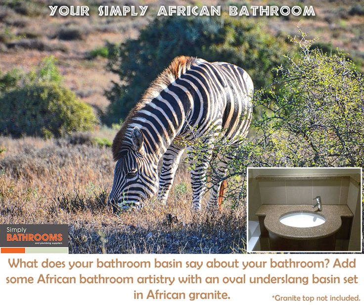 Insert elements of African artistry into your bathroom with a Simply Bathrooms basin… #AfricanDecor #DreamBathroom #BathroomHacks