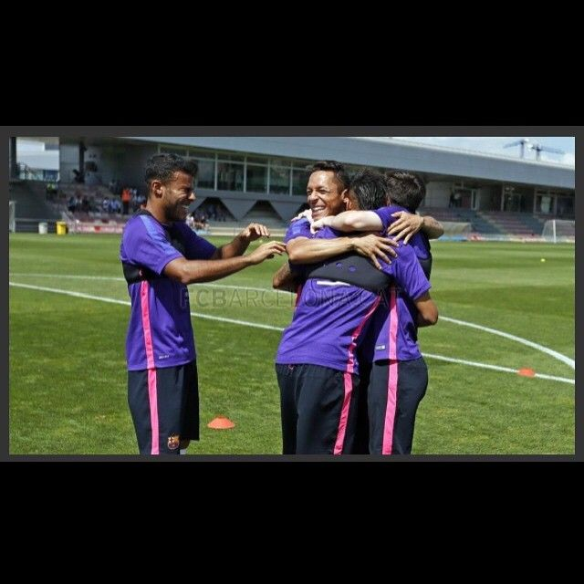 """Neymar at training today ❤️"""