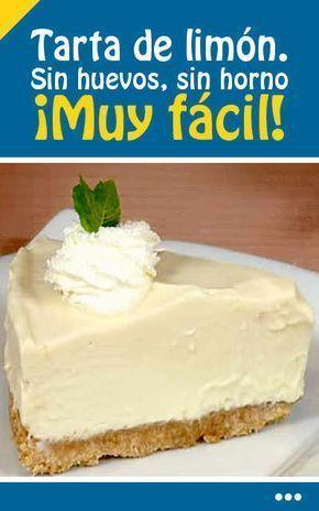 #receta #tarta #limón #sinhorno #fácil