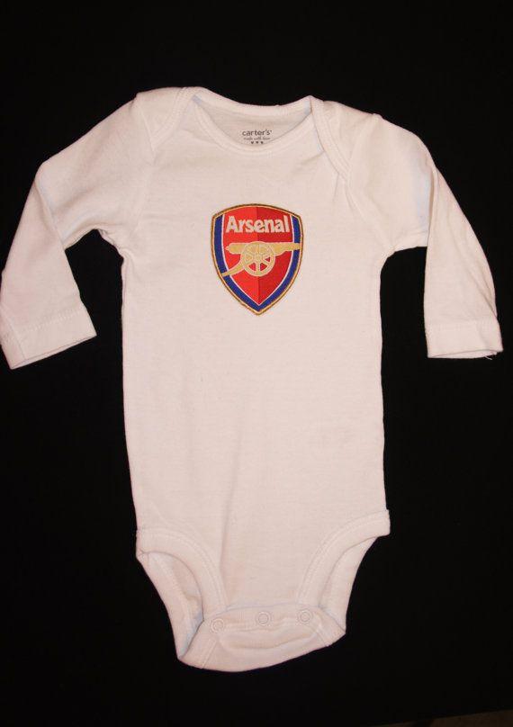 Long Sleeve  Arsenal FC soccer baby onesie bodysuit by armaniromeo, $14.97